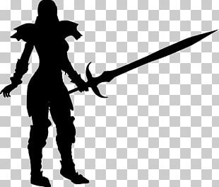 Silhouette Female Warrior Woman PNG