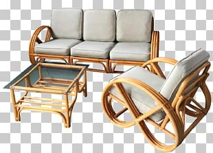 Table Chair Couch Rattan Furniture PNG