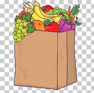 Grocery Store Shopping Bags & Trolleys Illustration PNG