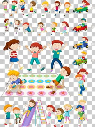 Child Play Illustration PNG