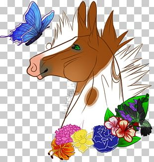 Illustration Horse Insect Flowering Plant PNG