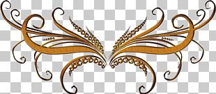 Butterfly Gold Chemical Element PNG