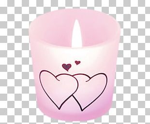 Candle Heart Valentines Day Combustion PNG