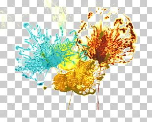 Flower Abstract Art Floral Design Painting PNG