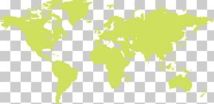 World Map Globe Mercator Projection PNG