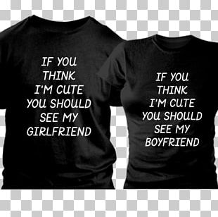 T-shirt Boyfriend Girlfriend Couple Love PNG