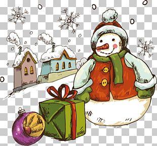 Snowman Ded Moroz Christmas Decoration PNG
