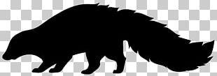 Silhouette Skunk PNG