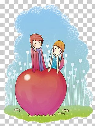 Cartoon Couple Love PNG