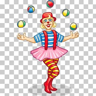 Clown Circus Juggling PNG