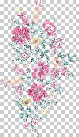 Flower Embroidery Euclidean Floral Design PNG