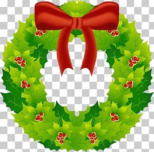 Christmas Tree Santa Claus Wreath Advent PNG