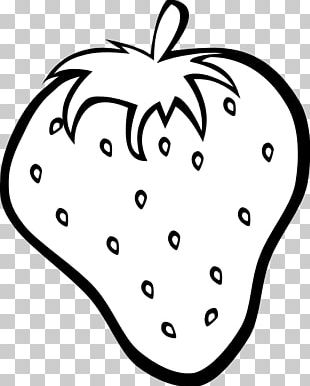 Strawberry Fruit Black And White PNG
