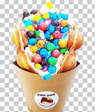 Sundae Ice Cream Cones Egg Waffle PNG