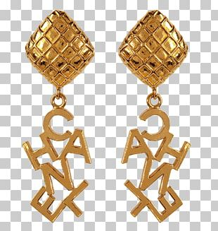 Chanel Earring Jewellery Gold Clothing PNG