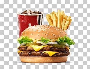 Hamburger Big King Cheeseburger Whopper Fast Food PNG