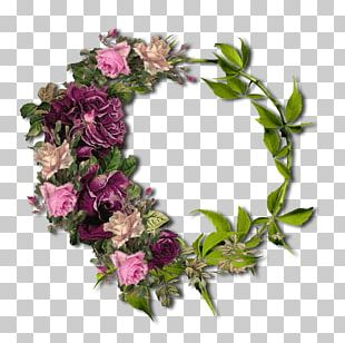 Garden Roses Wreath Floral Design Cut Flowers PNG