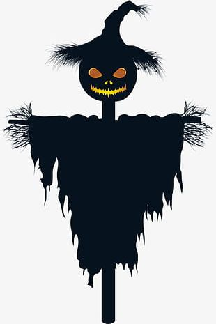 Halloween Pumpkin Scarecrow Material PNG