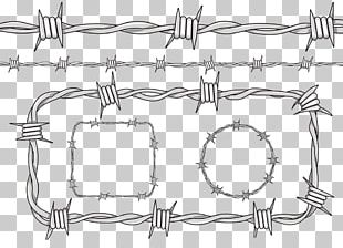 Barbed Wire Fence Drawing PNG