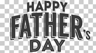Happy Fathers Day Grey Text PNG