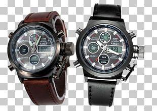 Quartz Clock Watch Water Resistant Mark Strap PNG