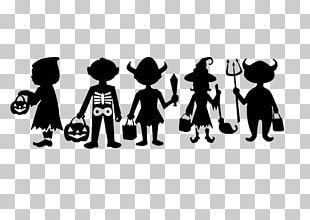 Trick-or-treating Silhouette Halloween PNG