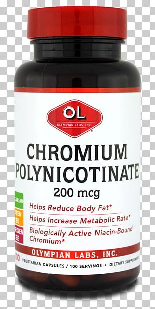 Dietary Supplement Chromium(III) Nicotinate Food Tablet Modified-release Dosage PNG
