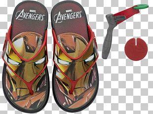 Flip-flops Slipper Iron Man Sandal PNG
