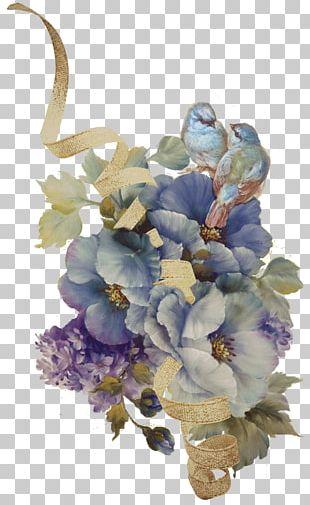 Floral Design Watercolor Painting Art Decoupage PNG
