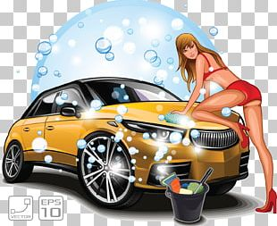 Car Wash Illustration PNG
