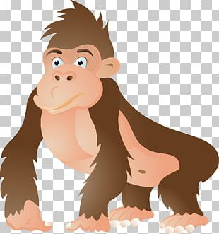 Gorilla Ape Chimpanzee Cartoon PNG