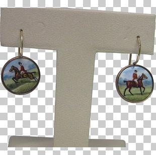 Earring Horse Enamel Paint Equestrian Gold PNG