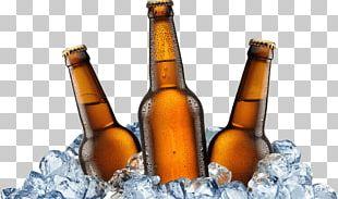 Old Stump Beer Bottles On Ice PNG