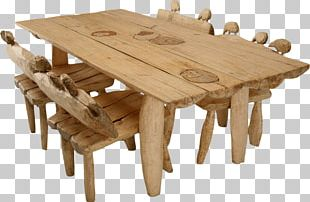 Table Wood Chair Stool Dining Room PNG