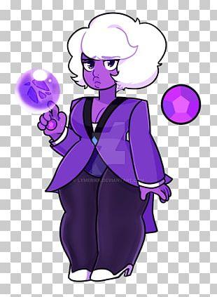 Amethyst Purple Rutile Violet Gemstone PNG