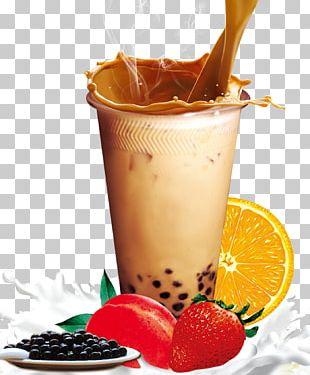Hong Kong-style Milk Tea Bubble Tea PNG