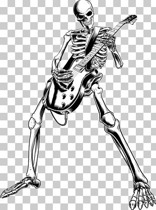 Skeleton Skull Rock Music Rock And Roll PNG
