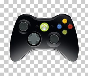 Black Xbox 360 Controller Wii U Xbox One Controller PNG