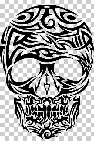 Calavera Skull Tattoo Airbrush T-shirt PNG