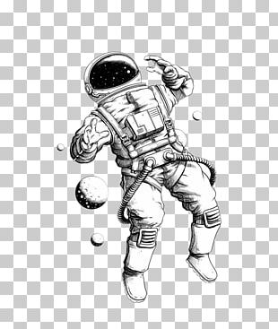 Drawing Astronaut Illustration PNG