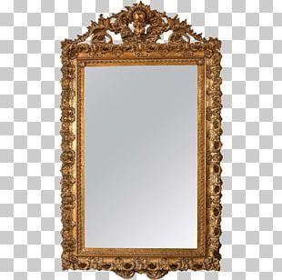 Frames Mirror Gilding Gold Wood PNG