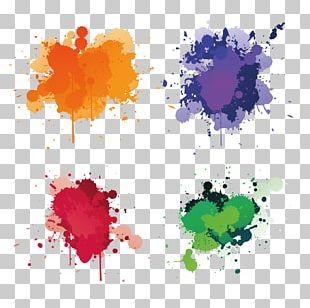 Splash Watercolor Painting PNG