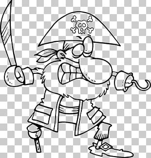 Piracy Black And White Drawing Cartoon PNG