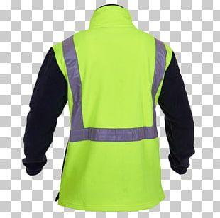 Sleeve T-shirt Shoulder Polar Fleece Jacket PNG