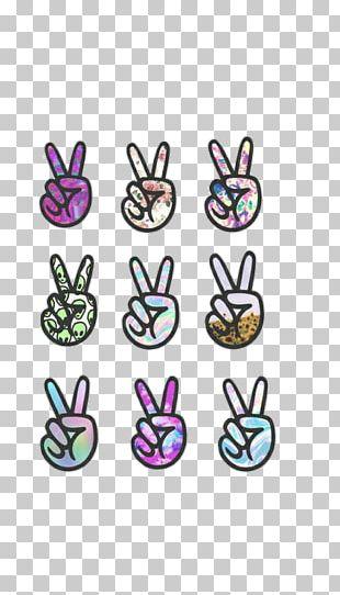 Emoji Peace Symbols V Sign PNG