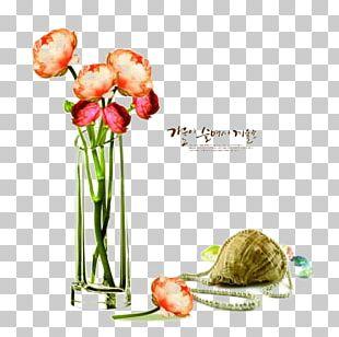 Vase Floral Design PNG