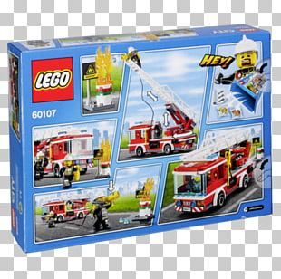 LEGO 60107 City Fire Ladder Truck Lego City Toy Fire Engine PNG