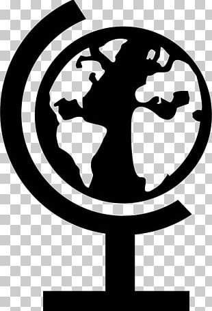 Globe Silhouette Black And White Graphics Design PNG
