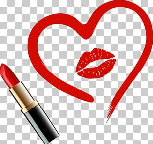 Heart Lipstick Drawing PNG