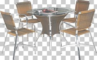 Table Chair Furniture Kitchen Wicker PNG